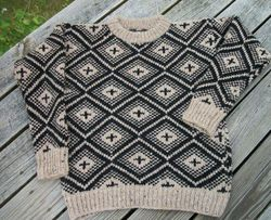 icelandic-wool-patterned-crew-neck-pullover