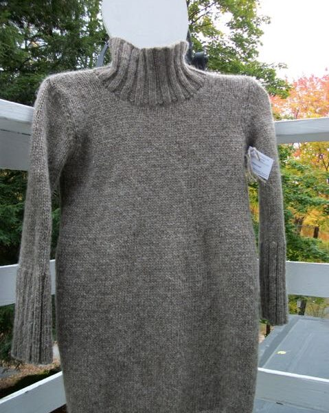 turtleneck wool tunic